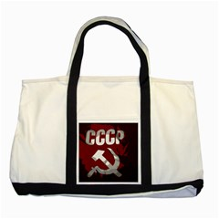 Cccp Soviet Union Flag Two Tone Tote Bag