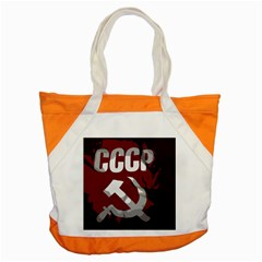 Cccp Soviet union flag Accent Tote Bag