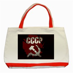 Cccp Soviet union flag Classic Tote Bag (Red)