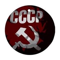 Cccp Soviet union flag Round Ornament (Two Sides)