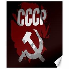 Cccp Soviet union flag Canvas 8  x 10