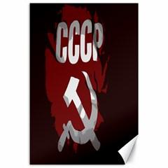 Cccp Soviet union flag Canvas 24  x 36