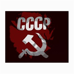 Cccp Soviet union flag Glasses Cloth (Small, Two Sides)