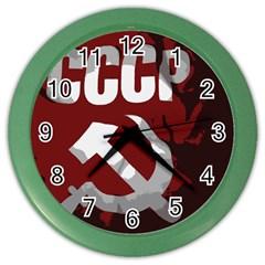 Cccp Soviet union flag Color Wall Clock