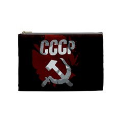 Cccp Soviet union flag Cosmetic Bag (Medium)