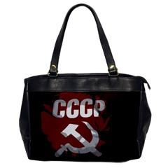 Cccp Soviet union flag Oversize Office Handbag (One Side)