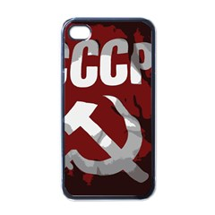 Cccp Soviet union flag Apple iPhone 4 Case (Black)
