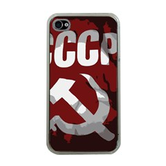 Cccp Soviet Union Flag Apple Iphone 4 Case (clear)