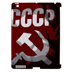 Cccp Soviet Union Flag Apple Ipad 3/4 Hardshell Case (compatible With Smart Cover)