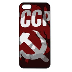 Cccp Soviet Union Flag Apple Iphone 5 Seamless Case (black)