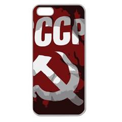 Cccp Soviet union flag Apple Seamless iPhone 5 Case (Clear)