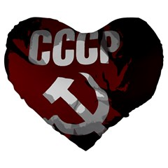Cccp Soviet Union Flag 19  Premium Heart Shape Cushion