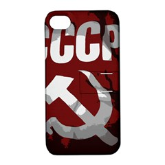 Cccp Soviet Union Flag Apple Iphone 4/4s Hardshell Case With Stand