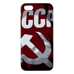 Cccp Soviet union flag iPhone 5 Premium Hardshell Case