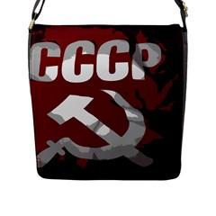 Cccp Soviet union flag Flap Closure Messenger Bag (Large)