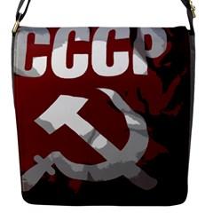 Cccp Soviet Union Flag Flap Closure Messenger Bag (small)