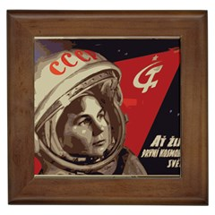 Soviet Union In Space Framed Ceramic Tile