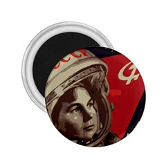 Soviet Union In Space 2.25  Button Magnet