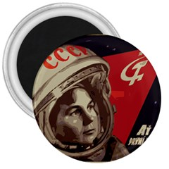 Soviet Union In Space 3  Button Magnet