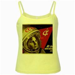 Soviet Union In Space Yellow Spaghetti Tank