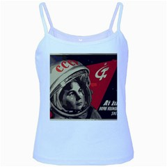 Soviet Union In Space Baby Blue Spaghetti Tank