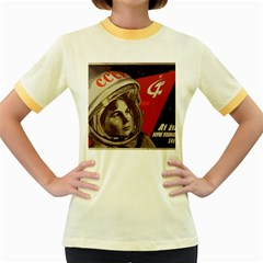 Soviet Union In Space Womens  Ringer T-shirt (Colored)