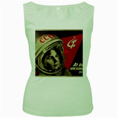 Soviet Union In Space Womens  Tank Top (Green)
