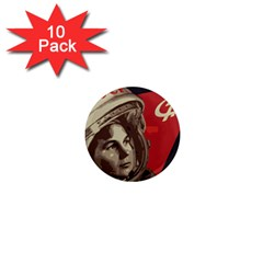 Soviet Union In Space 1  Mini Button Magnet (10 Pack)