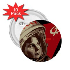 Soviet Union In Space 2.25  Button (10 pack)