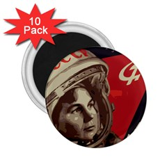 Soviet Union In Space 2.25  Button Magnet (10 pack)