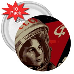 Soviet Union In Space 3  Button (10 pack)