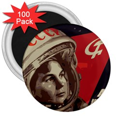 Soviet Union In Space 3  Button Magnet (100 pack)