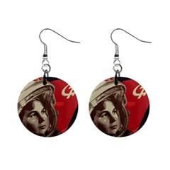 Soviet Union In Space Mini Button Earrings