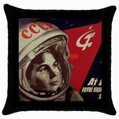 Soviet Union In Space Black Throw Pillow Case