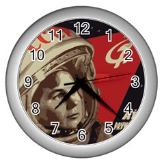 Soviet Union In Space Wall Clock (silver)