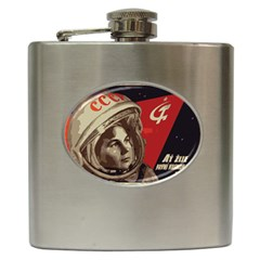 Soviet Union In Space Hip Flask