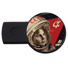 Soviet Union In Space 2GB USB Flash Drive (Round)