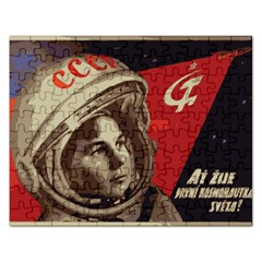 Soviet Union In Space Jigsaw Puzzle (rectangle)