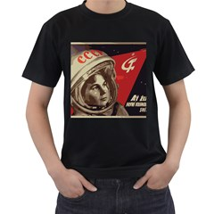 Soviet Union In Space Mens' Two Sided T-shirt (Black)