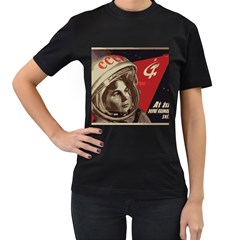 Soviet Union In Space Womens' Two Sided T Shirt (black)