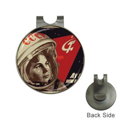 Soviet Union In Space Hat Clip With Golf Ball Marker