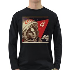 Soviet Union In Space Mens' Long Sleeve T-shirt (Dark Colored)