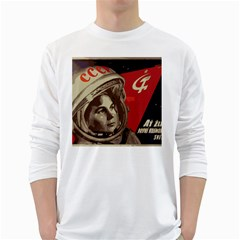 Soviet Union In Space Mens' Long Sleeve T-shirt (White)