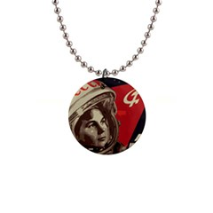 Soviet Union In Space Button Necklace