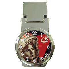 Soviet Union In Space Money Clip with Watch