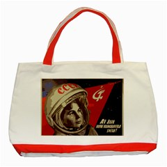 Soviet Union In Space Classic Tote Bag (red)