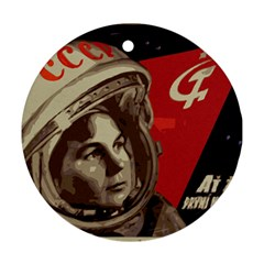 Soviet Union In Space Round Ornament (Two Sides)