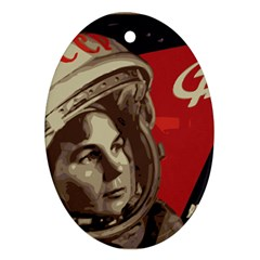 Soviet Union In Space Oval Ornament (two Sides)