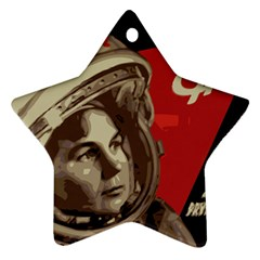 Soviet Union In Space Star Ornament (two Sides)
