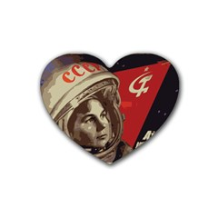 Soviet Union In Space Drink Coasters 4 Pack (heart)